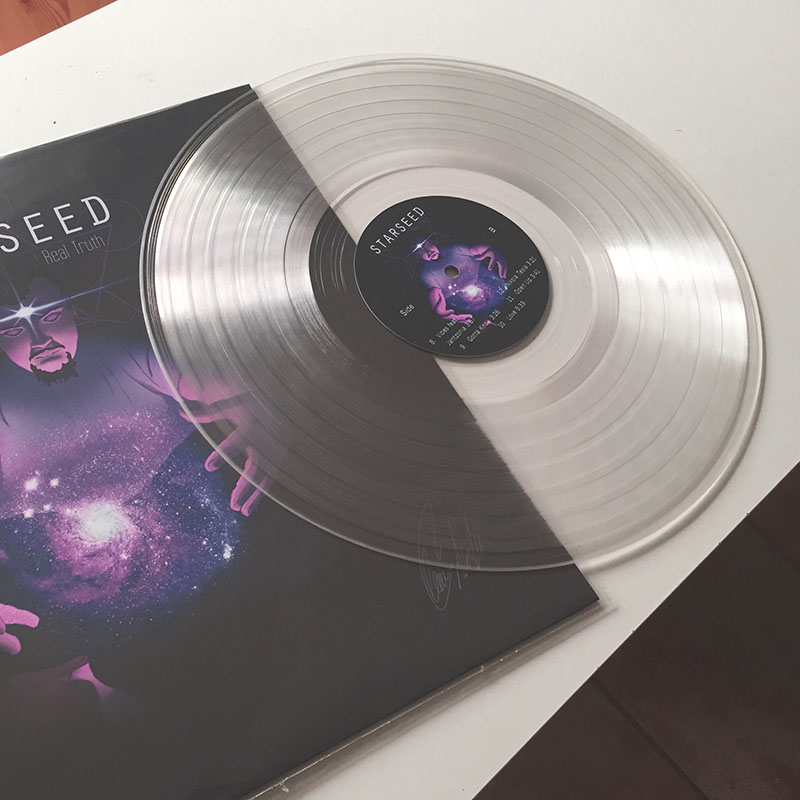 12-inch clear record w/printed cover